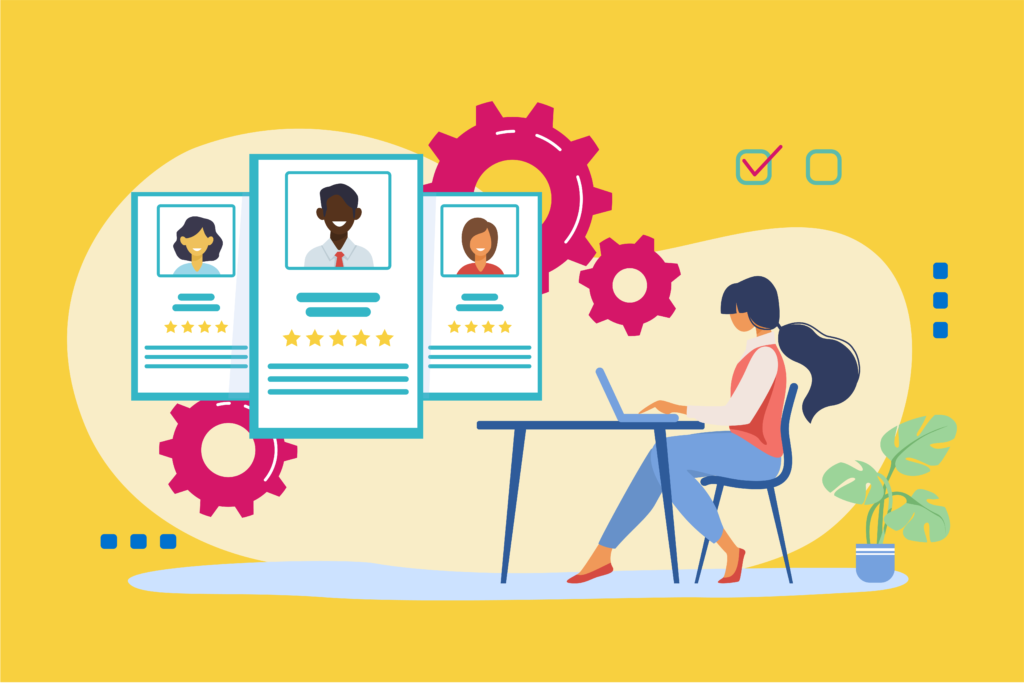 Sourcing for workers through online application and virtual interviews